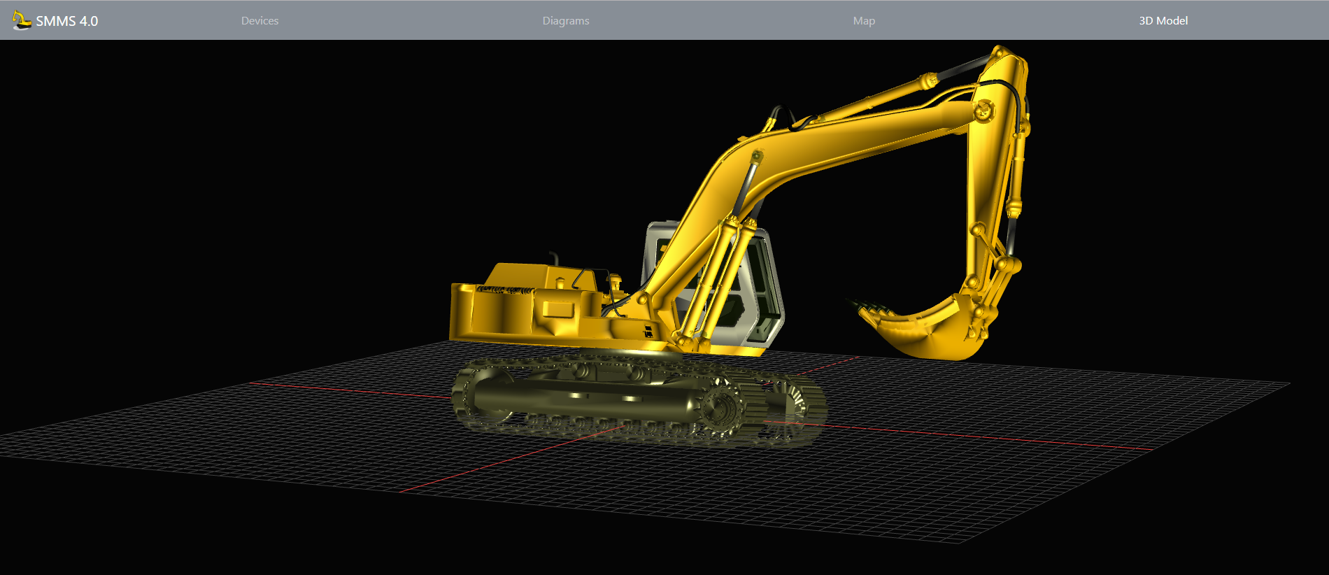 Bagger 3D Modell